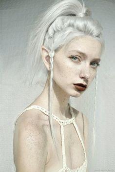 White on white on white. (model sarah marie karda, photo manipulation?) White Hair, Following Editing, Sarah Mary, Beauty, Blog, Mary Karda, Start Post, Elf ...