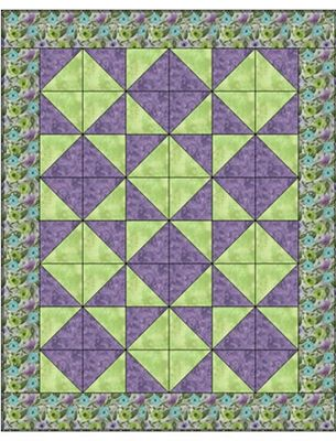 TUMBLING TRIANGLES 3 YD QUILT PATTERN