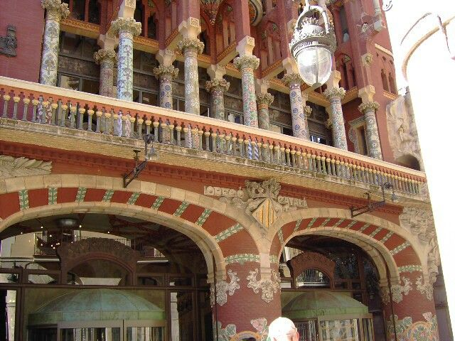 Barcellona Palau de la musica Orfeo Català del grande architetto modernista Muntaner