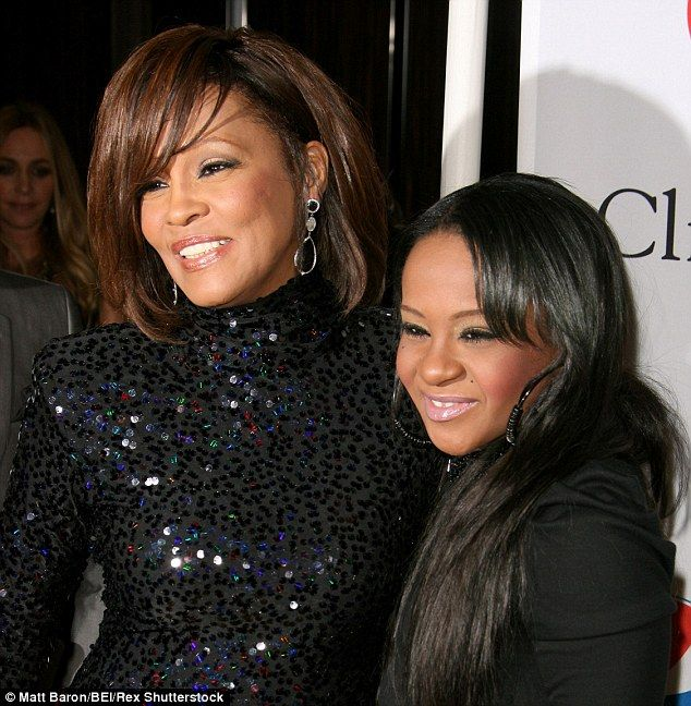 Mother and daughter: The 22-year-old passed away at Peachtree Christian Hospice in Georgia on Sunday - just three years after her mother, singer Whitney Houston died aged 48 in a bathtub at a hotel in Beverly Hills, California. Above, the pair are pictured together at a pre-Grammy Awards party on February 12, 2011