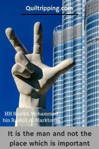 Win, victory, love statue in Dubai