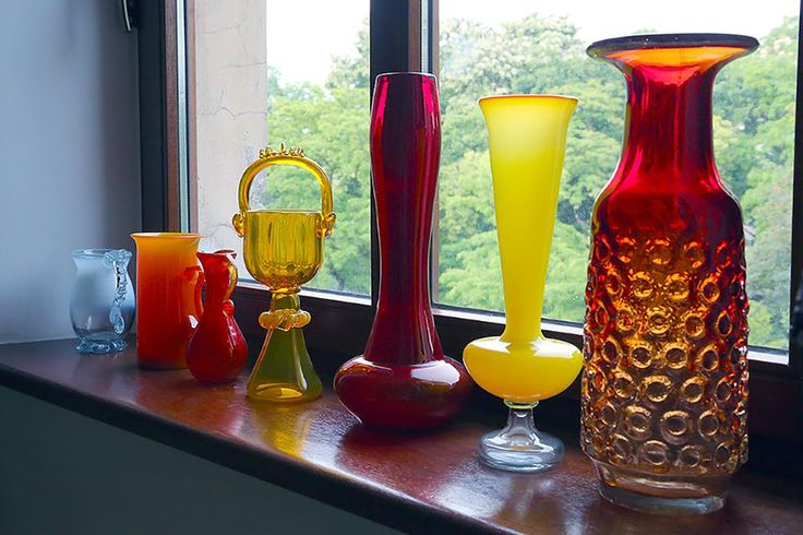 A collection of Polish modernist art glass from the 1960s and 1970s including Zbigniew Horbowy, Jan Sylvester Drost and Jerzy Słuczan-Orkusz