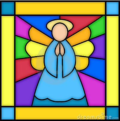 Angel in stained glass by Connie Larsen, via Dreamstime