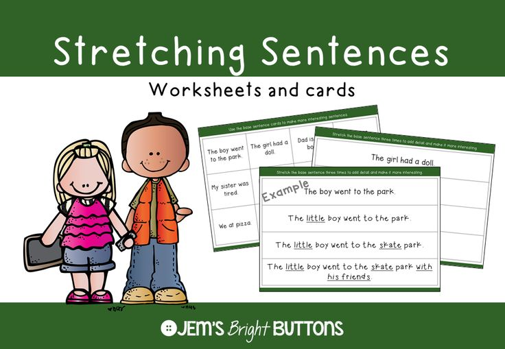 """Stretching sentences is heaps of fun! Students will enjoy making silly sentences, creative sentences and sentences that make others say """"Wow!"""""""