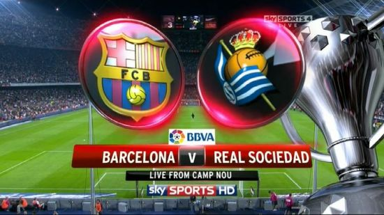 Barcelona x Real Sociedad 550x309 Transmissão Real Madrid x Atlético de Madrid e Barcelona x Real Sociedad Ao Vivo   Semi Final