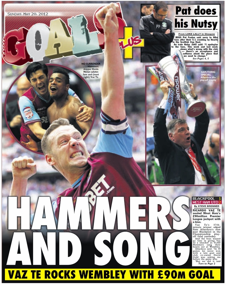 "West Ham beat Blackpool in the game dubbed the ""90million pound playoff"" to secure promotion back to the Premier League under Sam Allardyce at the first time of asking. It is already late May 2012 and Allardyce is facing a second squad rebuilding process in a year as he has to decide which of his Hammers heroes will be fit for the Premier League fight. There will be new faces and a renewed hope around the Boleyn Ground for 2012-13"