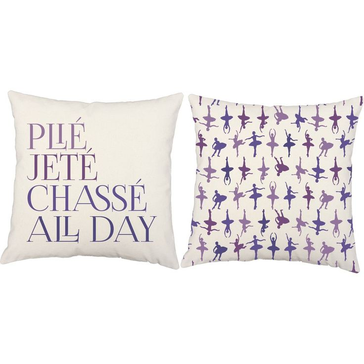 Plie... Jete... Chasse! Little girls will twirl for these adorable ballet throw pillows. Make decorating fun and easy with these pillow covers. #roomcraft