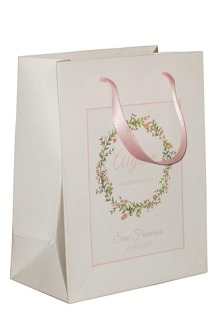 Pink Bridesmaid Gift Bags personalized bridesmaid gift bags Small/Medium size