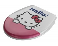 Universal decorated toilet seat. Bath collection HELLO KITTY