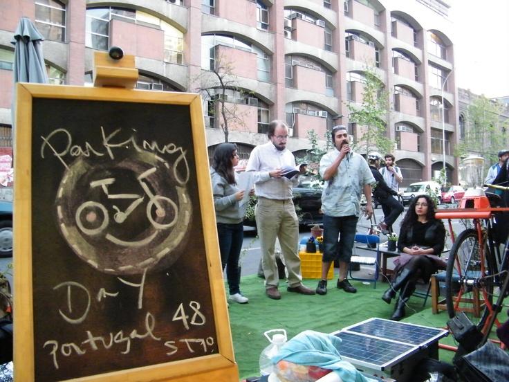 Parking Day en los días ciudadanos por la bicicleta y el espacio publico