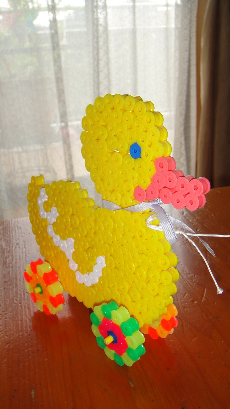 Duck toy hama beads by junko