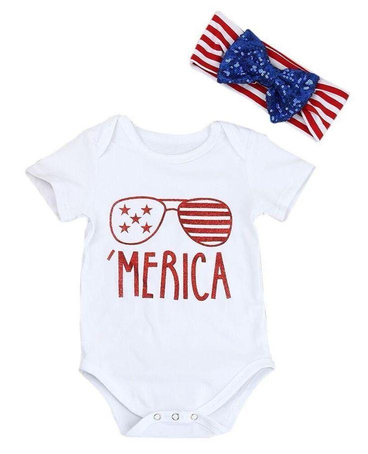 Merica Baby Girl Bodysuit