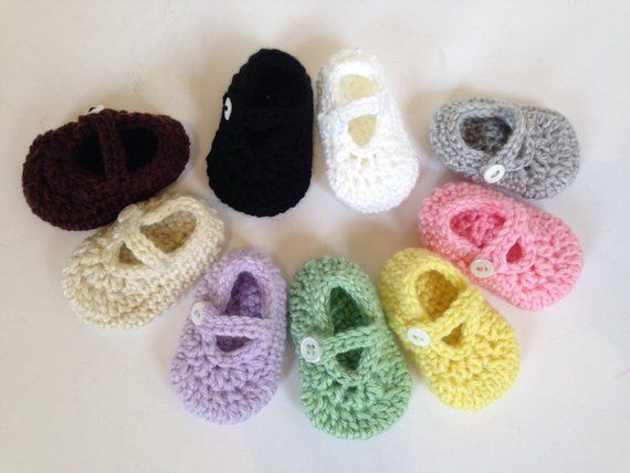 f31057859ad3c Newborn Booties, Baby Girl Shoes, Mary Jane Shoes, Newborn Mary ...
