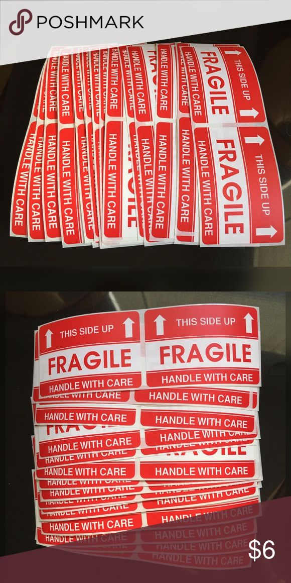 "40 Fragile Shipping Label Stickers Bundle & Save ✔️ Check Out My Other Great Items  ✨I ship on Monday, Wednesday, & Friday✨  Fragile Handle With Care This End Up  40 Sticker Labels  Size 3x2"" (LxW) Other"