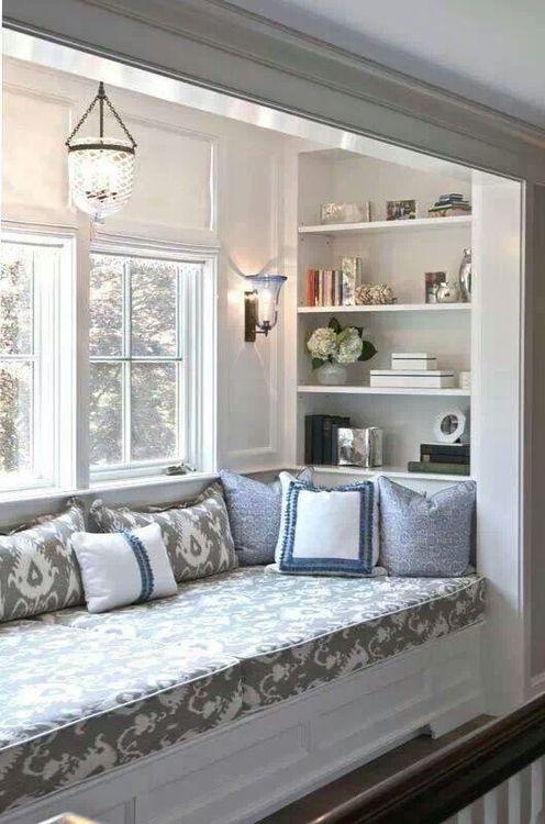 lace & cotton/..love windowseats...