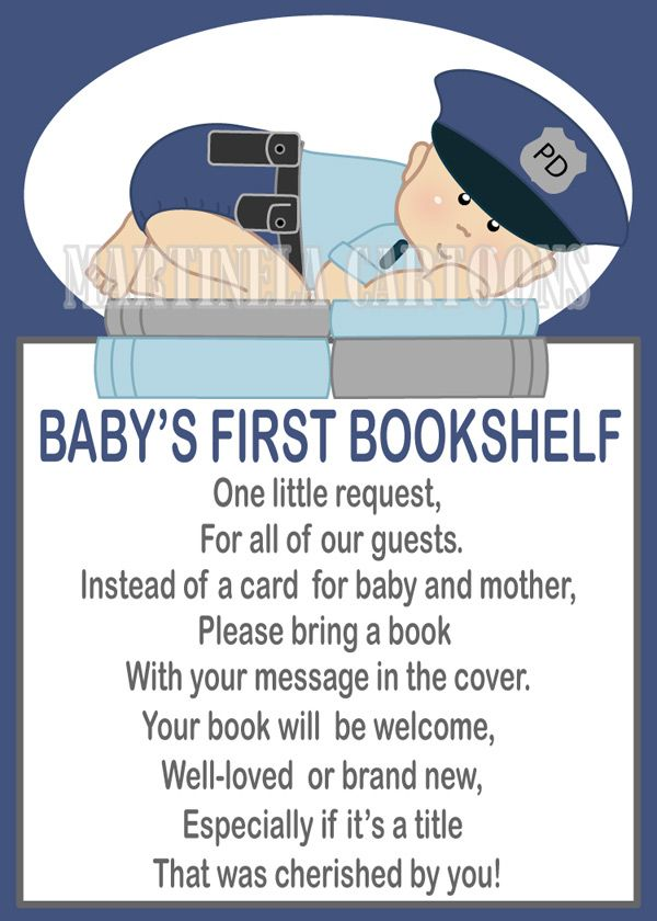 Police officer baby shower theme, police baby book request. cute baby cop.