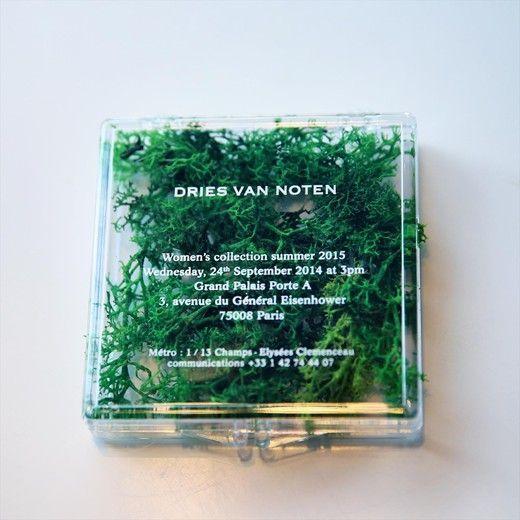 Dries Van Noten Invitation S/S15 Best Invite — Dries Van Noten