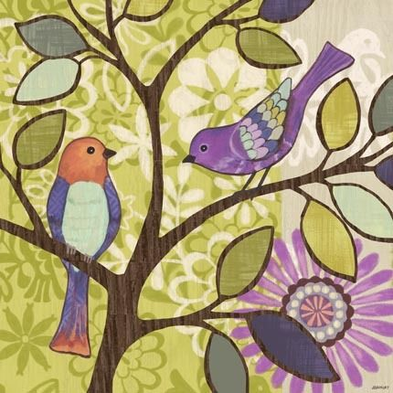 Bird Bliss-Bird-Two Birds by Jennifer Brinley | Ruth Levison Design