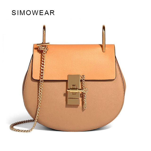 Best Sellers $39.90, Buy 2016 Hot Sale Popular Fashion Brand Design Women Genuine Leather Cloe Bag High Quality Real Cowskin Shoulder Bag Small Chain Bag