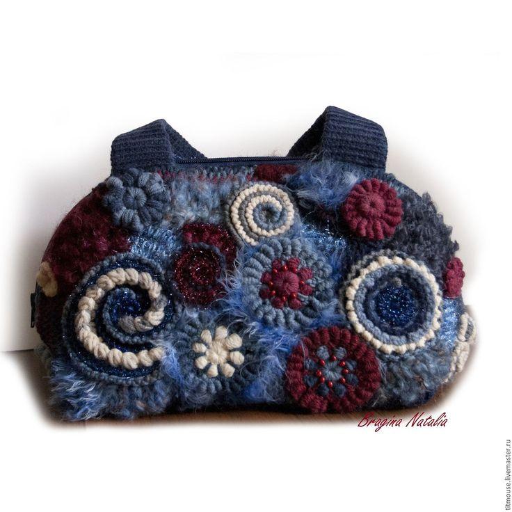 """Купить Сумка """"Звездопад"""" - джинсовый, сумка ручной работы, сумка женская, Сумка авторская, фриформ"""