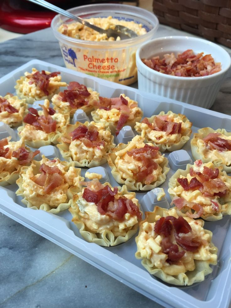 Bacon Palmetto Cheese Phyllo Cups | Spreading Southern Soul