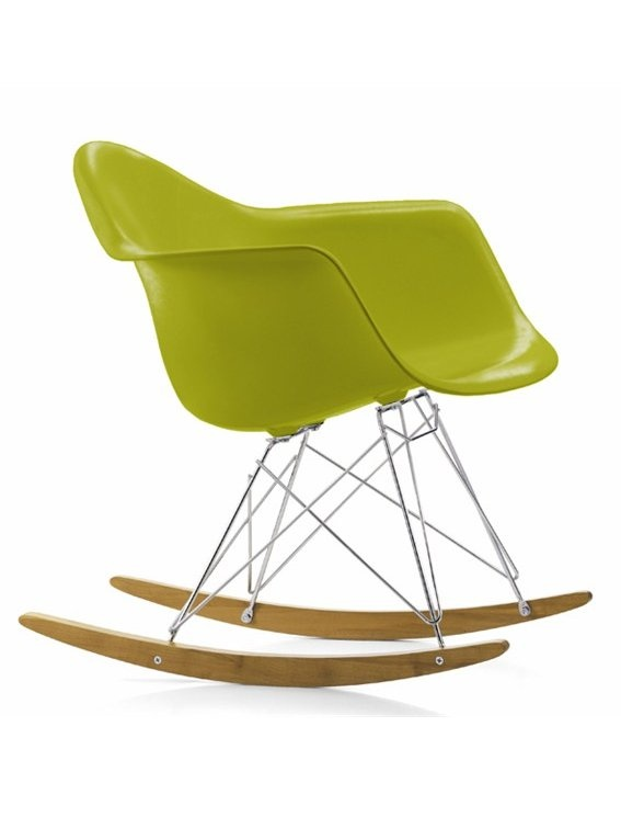 Rocking plastic #chair RAR by @Vitra Furniture | design Charles & Ray #Eames (1950) #colour