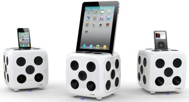 i-Dice Sound Docking Station Dobbelsteen Luidsprekers iPhone , iPad , iPod ea TE KOOP BIJ WWW.MOBILEWARE.BE