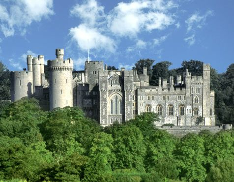 Arundel Castle, West Sussex.  There are various wedding venues in Arundel, and some beautiful areas to have wedding photos taken.
