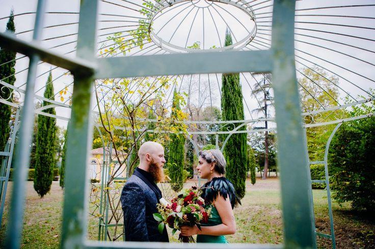 Couple from Kansas City eloped in France, Bonnac (Ariège) Photo : Floriane Caux www.florianecaux.com  #photographemariagetoulouse #funkywedding #elopement