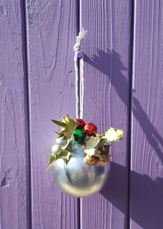 Silver Witch Ball Pagan Bauble Wiccan Christmas Protection