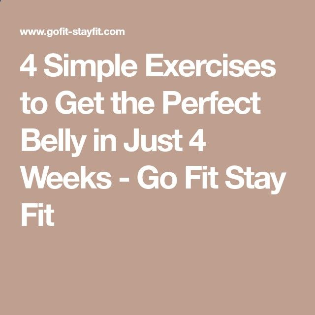 4 Simple Exercises to Get the Perfect Belly in Just 4 Weeks - Go Fit Stay Fit