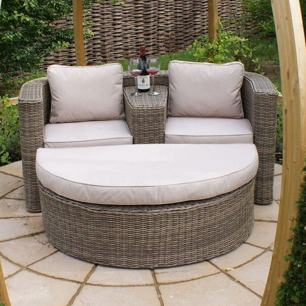winchester rattan love seat furniture sofa setrattan garden - Wooden Garden Furniture Love Seats