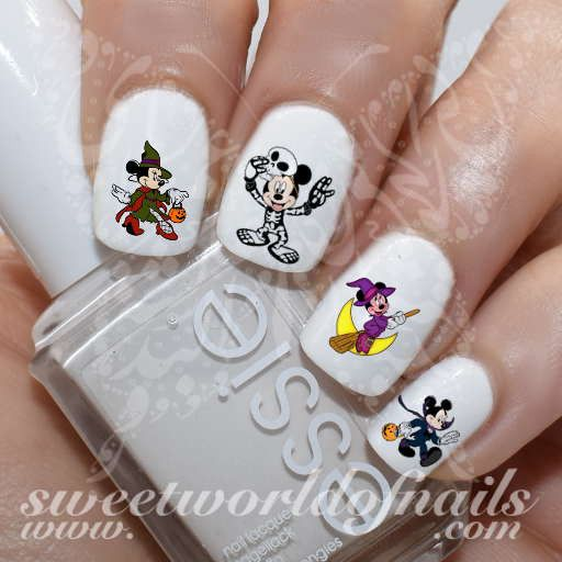 Disney Halloween Nail Art Mickey Minnie Mouse Nail Art Nail Water Decals Slides