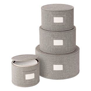 Keep your china looking its best with our Brown Twill China Storage Cases.