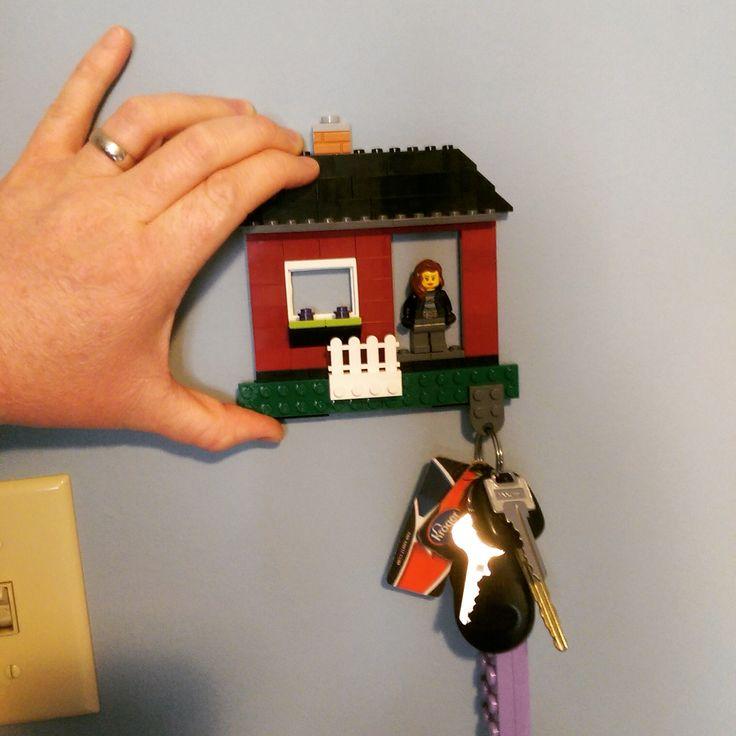 Brilliant Lego key holder