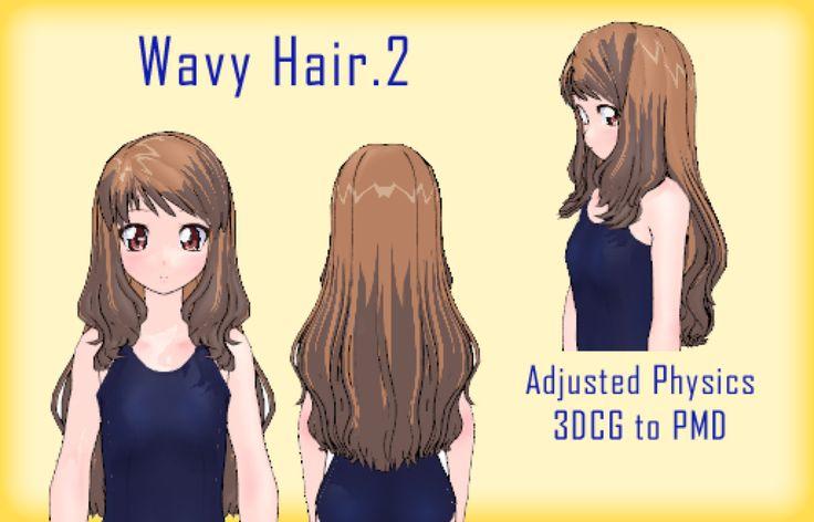 Mmd Wavy Hair 2 Dl By Mmdfakewings18 On Deviantart