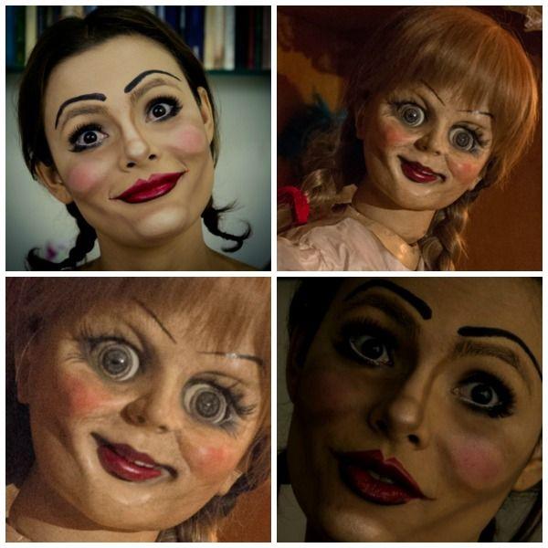 Maquiagem de Halloween inspirada no filme de terror Annabelle.Tutorial aqui: https://www.youtube.com/watch?v=WteqtzUQ9Hw