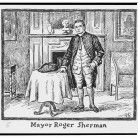 Print showing Roger Sherman, Mayor of New Haven
