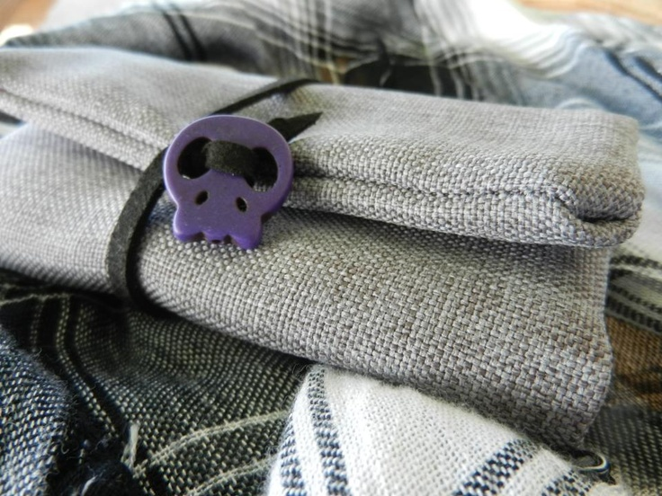 hand tobacco case   grey-purple*