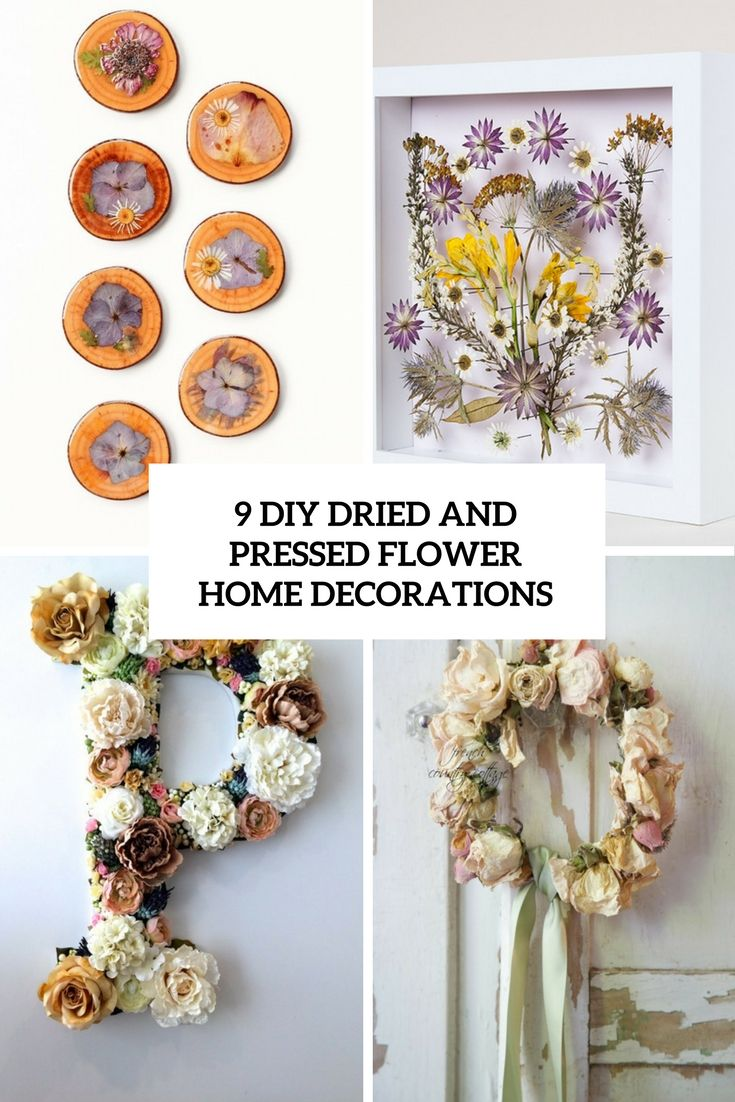 9 diy dried and pressed flower home decorations cover | www.homeology.co.za