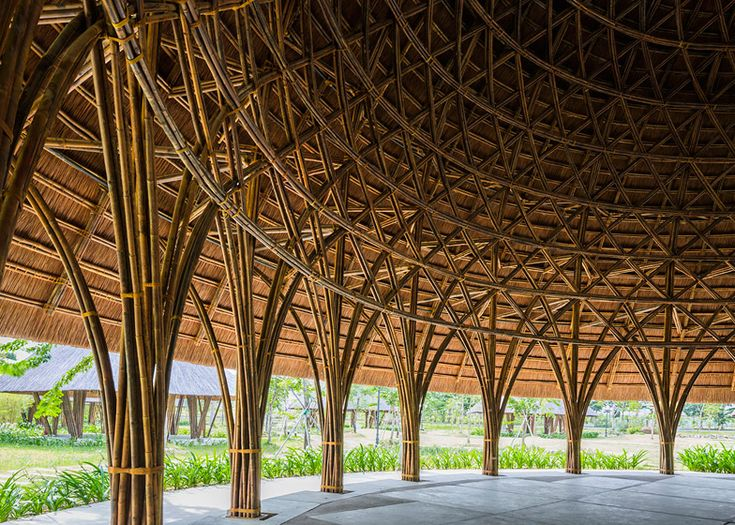 Vo Trong Nghia creates bamboo and thatch domes in Vietnam