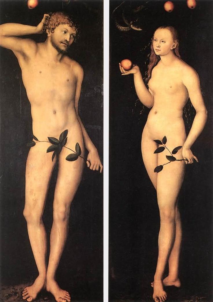 Lucas Cranach The Elder - Adam And Eve