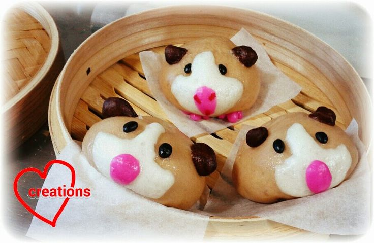 Loving Creations for You: Guinea Pig Liu Sha Bao (Salted Egg Custard Steamed...