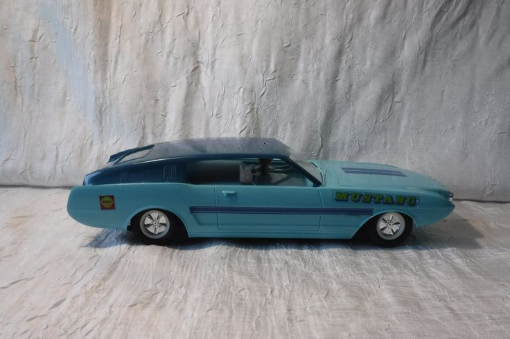 Ford Mustang / Vintage Gakken Radio Controlled Vehicle / Made in Japan / 1960's /  Plastic Model Car / Light Blue by OriginalVintageGypsy on Etsy