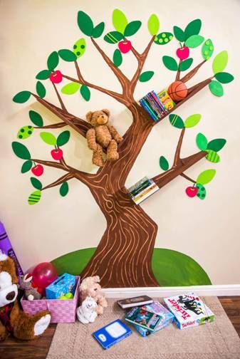 DIY Tree Bookshelf Tutorial - Family Focus Blog