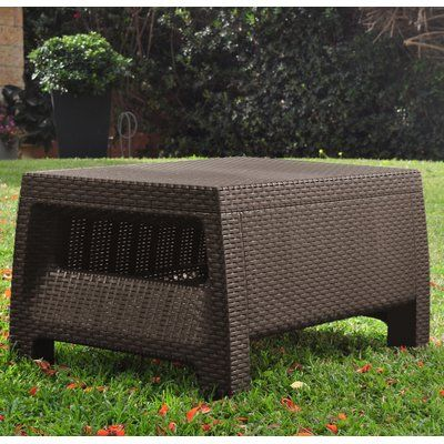 Keter Corfu All Weather Outdoor Coffee Table Finish: Brown