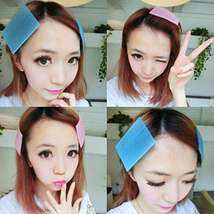 2 pcs Hair Sticker Clip Bangs fixed Seamless Magic Paste Posts Magic Tape Fringe Hair Bang Patch