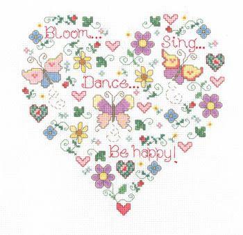 Butterfly Happiness - Cross Stitch Pattern