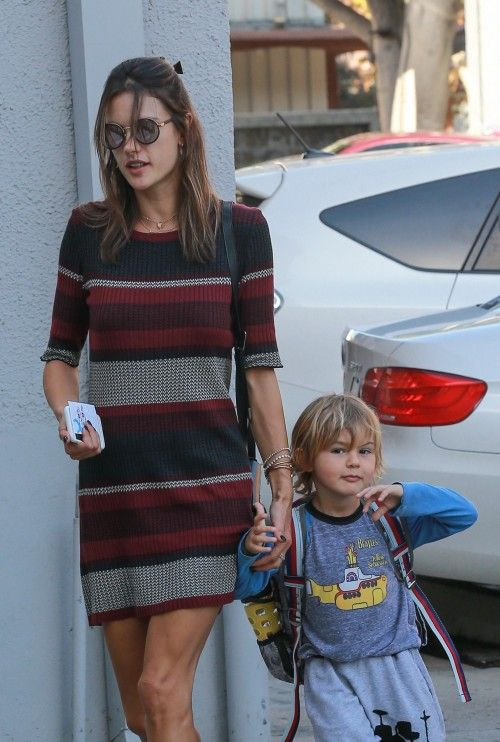 Alessandra ambrosio takes her son noah to a jui jitsu class on october
