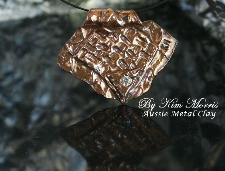Aussie Metal Clay by Kim Booklass  hand sculpted wearable art